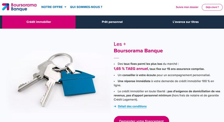 Le Credit Immobilier Ultra Competitif Boursorama En Detail