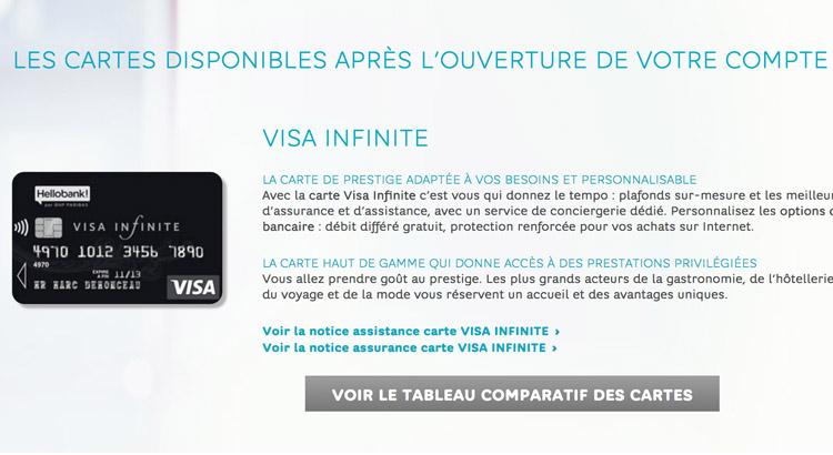 La Carte Visa Infinite
