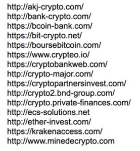 liste AMF crypto-monnaies
